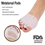 Metatarsal Pads, Half Toe Sleeve Bunion Corrector Pads Forefoot Cushions For Men and Women Great for Diabetic Feet Prevent Calluses and Blisters, 2 Pieces
