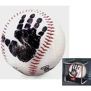 Print Baby Wipes Case - First Pitch Baby's First Handprint Baseball