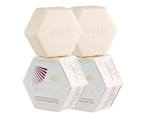 Makari Classic Caviar Enriched Moisturizing & Brightening Treatment Cleanser Soap 7.0 oz - 2 PACK