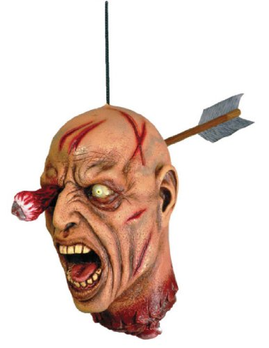 [Forum Novelties Arrow Through Severed Head Zombie Hanging Property, Multicolored] (Couples Scary Costumes)