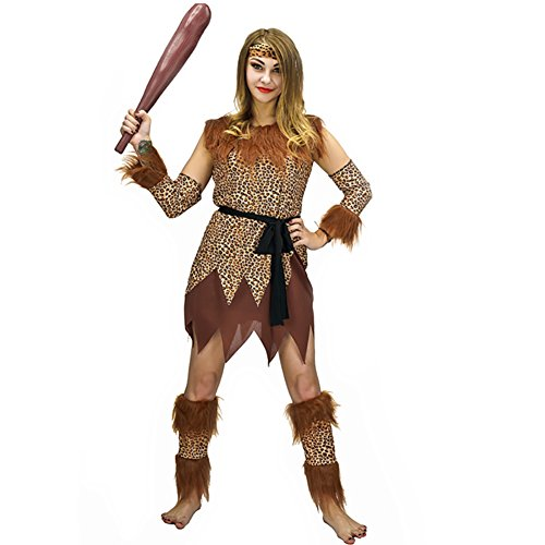 Halloween Costumes Scary Caveman And Woman Party Costumes Adult Tarzan (S, Women) (Cave Man And Woman Costumes)