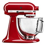 KitchenAid KSM150PSHER KitchenAid Artisan Mixer with Custom Hammered Bowl, Empire Red