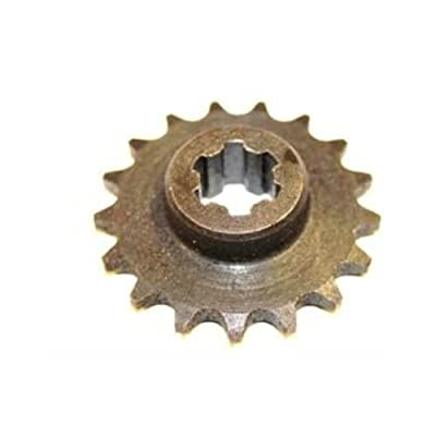 17 Tooth Sprocket (8mm 05T) for 33cc-49cc Stand Up-Gas scooters, Pocket bike : Sports & Outdoors