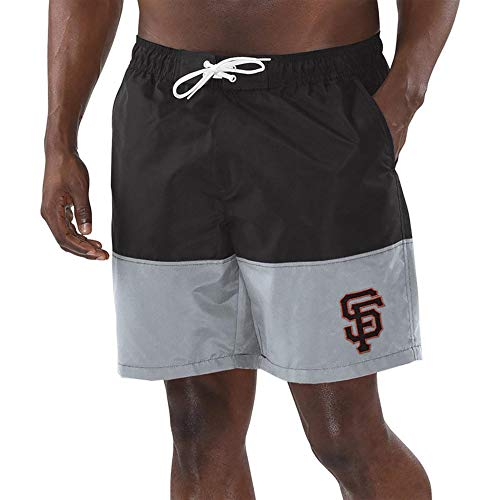 League Trunks San Francisco G-III Sports by Carl Banks Anchor Volley Shorts - Black/Gray (X-Large) - Giants Shorts Francisco Mens San