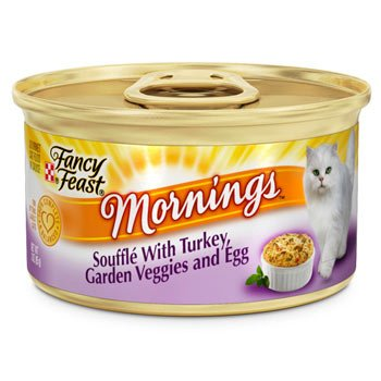 Fancy Feast Mornings Souffle with Turkey, Garden Veggies and Egg Gourmet Cat Food, Case of 24, My Pet Supplies