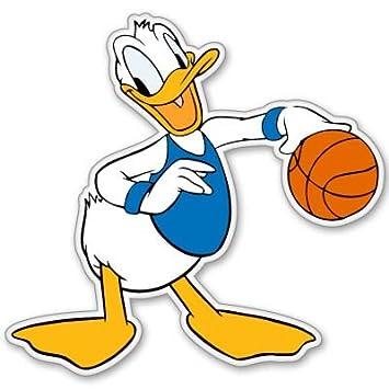 Amazon.com: Disney pato Donald baloncesto vinilo calcomanía ...