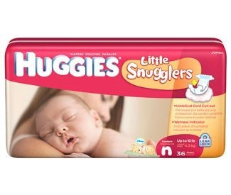 Huggies Supreme Little Snugglers born Diapers Jumbo Pack 36ct. from Kimberly-Clark