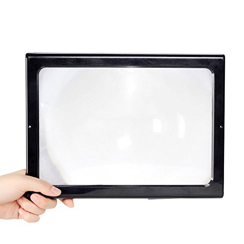 ANHPI Desktop Magnifier For Old Man Reading Maintenance A4 Magnifying(3X),Black-20527398mm - Olds 98 Top