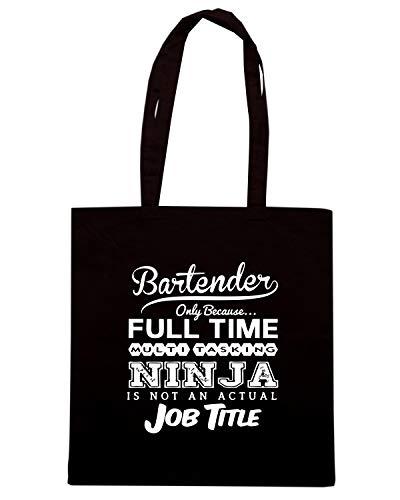 BEER0264 Nera Borsa Shirt BARTENDER NINJA Shopper Speed waq0IxnUx