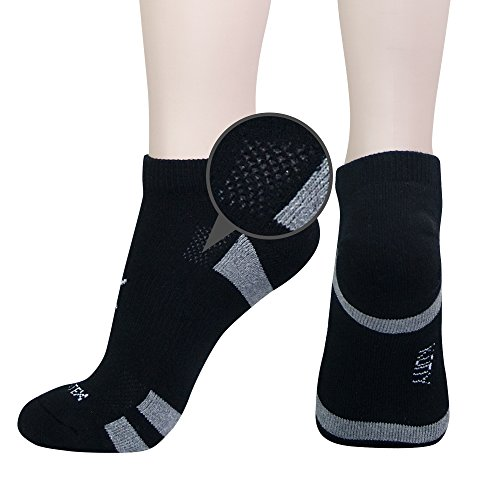 KONY Women's 6 Pack Thick Cotton Cushioned Low Cut Ankle Athletic Socks Air-cross Mesh No Show Running Socks (Black - 6 Pairs) by KONY (Image #2)
