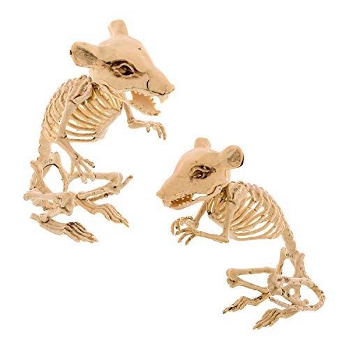 Halloween Haunters Set of 2 Scary Over-Sized Skeleton Rats Prop Decorations - 10
