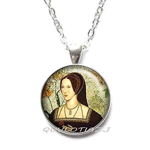 QUVLOTIAZJ Tudor Rose Necklace Tudor Necklace Tudor Jewelry Tudor Necklace Queen England,Best Friend Necklace,Simple Necklace,Everyday Necklace,Gorgeous Necklace,ot77 (A1)