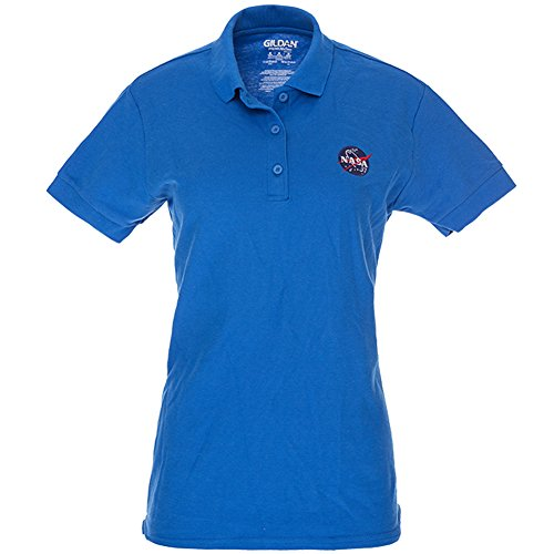 Ladies Meatball Embroidered Premium Poly Jersey Polo Shirt - Royal - 2XL