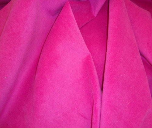 - Plush Velvet Micro Upholstery Fuchsia Upholstery Drapery Fabric Sold BTY 54
