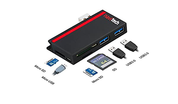 Navitech 2 in 1 Laptop//Tablet USB 3.0//2.0 HUB Adapter//Micro USB Input with SD//Micro SD Card Reader Compatible with The ASUS C100PA-DB02 10.1-inch//ASUS C201PA-DS02 11.6 inch Chromebook