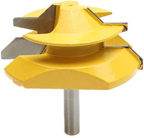 Queenwind 8mm シャンク45度ロックマイタ接着剤ジョイントルータビット木工カッター