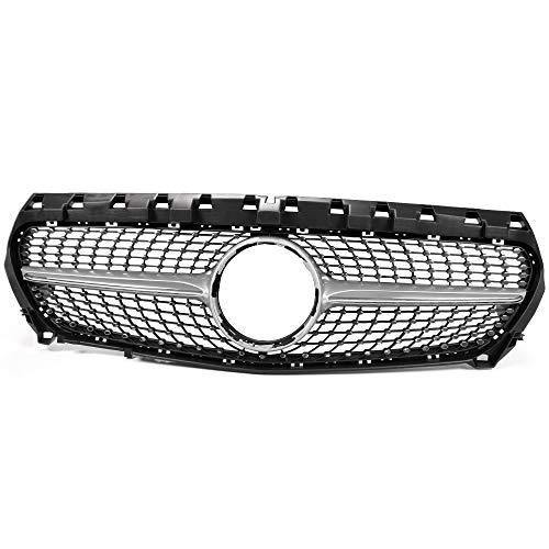 New Front Diamond Star Style Grille Bumper Hood Grill For Mercedes-Benz W117 CLA CLA250 Sedan 2014-2016 Silver 2015