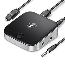 【3/23まで 1000円OFFクーポン実施】Inateck 光ケーブル対応aptX LL Bluetoothオーディオアダプター