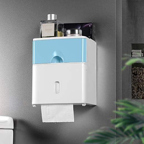 防水トイレットペーパーホルダー、衛生ペーパーディスペンサーポータブルティッシュボックスホームバスルームアクセサリー、住宅およびアパート用