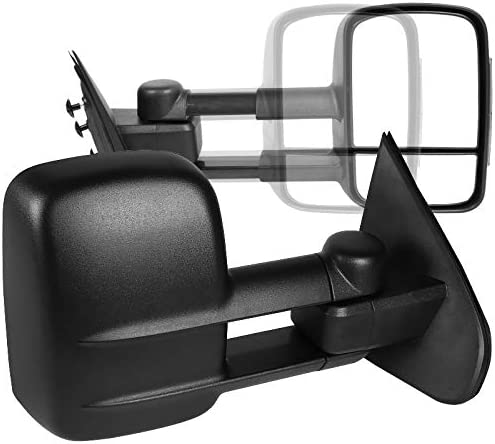 Spec-D Tuning Manual Extend Towing Side Mirrors for 2014-2018 Chevy Chevrolet Silverado Gmc Sierra Left Right Pair