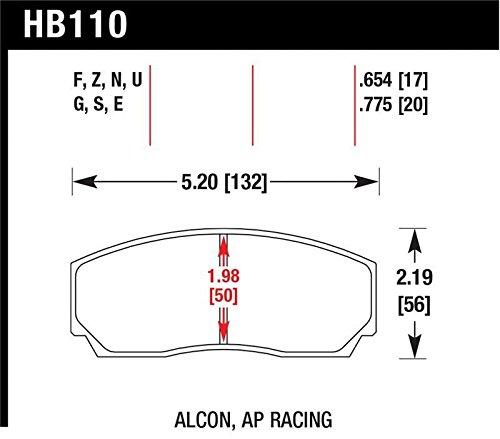 Hawk Performance HB110E.654 Auto Part by Hawk (Image #1)