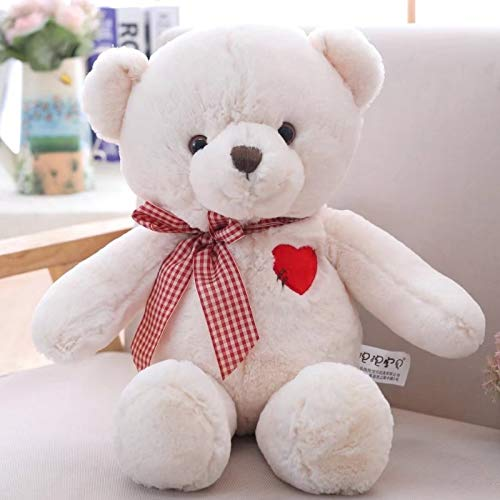 GOONEE Teddy Bear - Love Teddy Bear with Heart Embroidery Plush Dolls Kids Toys for Baby Children Gifts Stuffed Bear - 20 Inch Total Length White - Large Pig Pink USA Us Animals from GOONEE