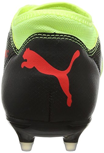 Puma Future 18.4 FG/AG Jr, Zapatillas de Fútbol Unisex Niños Amarillo (Fizzy Yellow-red Blast-puma Black)