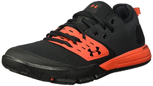 (Under Armour Men's Charged Ultimate 3 Sneaker, Black (002)/Radio Red, 14)