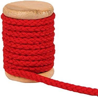 Cordón de algodón, color rojo, cinta de algodón monocromática ...
