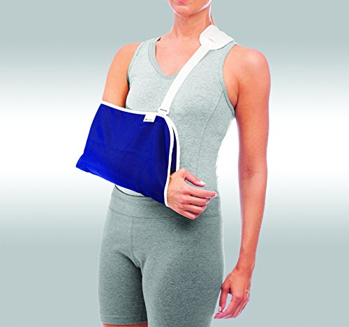 Review Mueller Arm Sling, Blue, One Size
