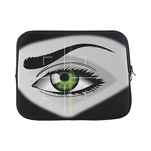 Design Custom Biometrics Eye Security Iris Scanner Iris Eyebrows Sleeve Soft Laptop Case Bag Pouch Skin For Macbook Air 11