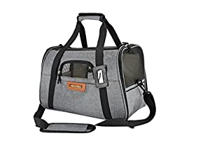 Pet Carrier / Crate Airline Approved Under Seat for Small Dogs and Cats - Soft Sided Portable Airplane Travel Tote Bag with 2 Fleece Pads By: SLEEKO