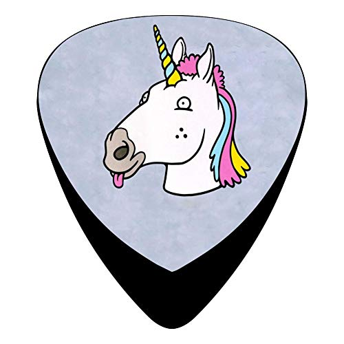 Unicorn 351 Shape Medium Classic Celluloid Picks, 12-Pack, For Electric Guitar, Acoustic Guitar, Mandolin, And Bass