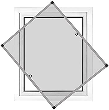 JAROLIFT Insektenschutz Spannrahmen Profi Line f/ür Fenster ohne Bohren montierbar anthrazit Rahmengr/ö/ße 110 x 150cm