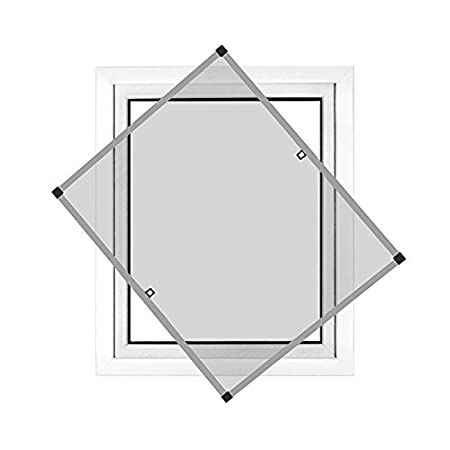 anthrazit Rahmengr/ö/ße 90 x 150cm JAROLIFT Insektenschutz Spannrahmen Profi Line f/ür Fenster ohne Bohren montierbar