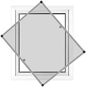 Montaje sin perforaci/ón JAROLIFT Profi Line Mosquitera con marco de aluminio para ventana 70cm x 150cm plateada