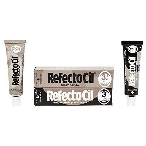 Refectocil Twin Pack Light Brown and Natural Brown Cream Hair Dye, 15ml X 2 by RefectoCil