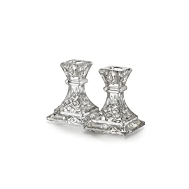 Waterford Crystal Lismore 4 Inch Candle Pair
