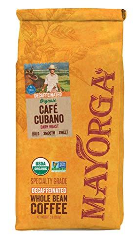 Mayorga Organics Swiss Water Decaf Cafe Cubano Dark Roast, 2 Pound, Whole Bean Coffee, Direct Trade, 100% USDA Organic Certified, Non-GMO, Kosher