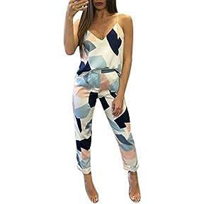 Morecome Women's Casual Fashion V-neck Geometric Print Tops+Pants 1 Sets