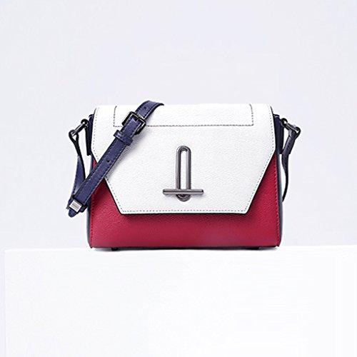 JIUTE Cowhide Shoulder Ms Messenger Shoulder Personality Messenger Bag Fashion Bag Wild rqrpagw