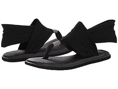 Sanuk Women's Yoga Sling 2 Flip-Flop (8 B(M) US / 39 EUR, Black)