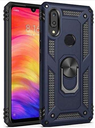 Funda Xiaomi Redmi note 7 de silicona | Estuche de protección militar magnético | Funda armadura de 360 grados antichoques | Carcasa de protección con ...