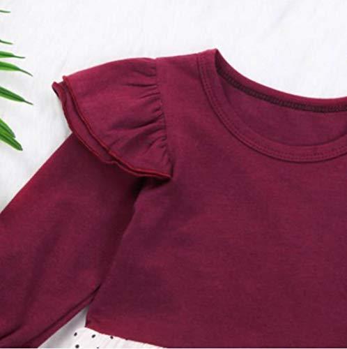 Floral Adeshop 24mois Vêtement Costume À Mode 6 Jumpsuit Combinaison Longues Vin Bébé Imprimé Enfant Du Mignon Casual Fille Chic Manches D'escalade Automne Yi Ha rqnrvS