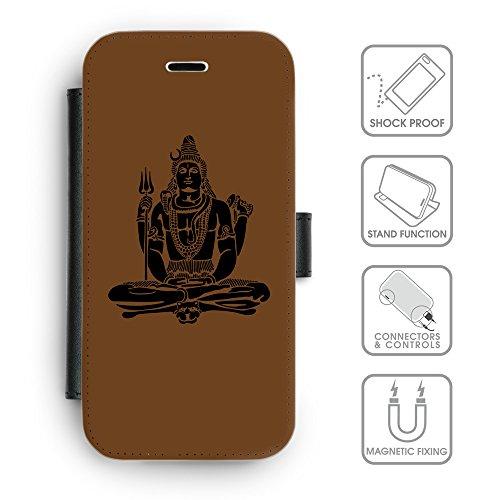 Flip PU Leather Wallet Case avec des fentes de carte de crédit // Q08100633 Hindou 1 Sépia // apple iphone 7 2016