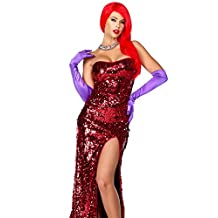 Forplay Women's Toon Temptress Sequin Gown and Gloves