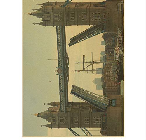 Yirenfeng Retro paisaje vintage cartel ciudad de Londres y ...