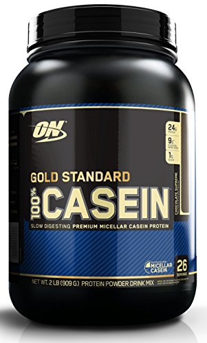Optimum Nutrition Gold Standard 100% Casein Protein Powder, Chocolate Supreme, 2 Pound