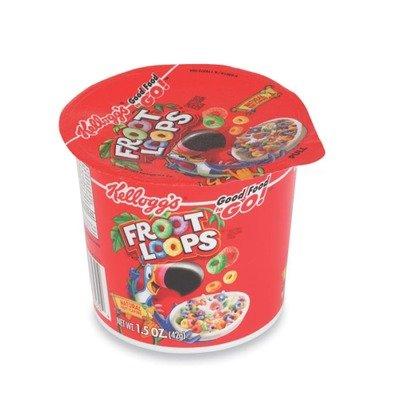 KELLOGGS 1246 Froot Loops Breakfast Cereal, Single-Serve 1.5oz Cup, 6/Box