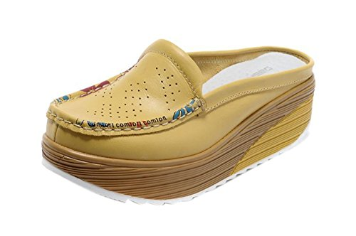 SK Studio - Sandalias de vestir para mujer amarillo